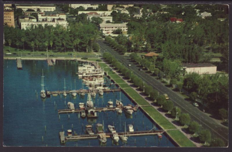 City Yacht Basin,St Petersburg,FL Postcard BIN