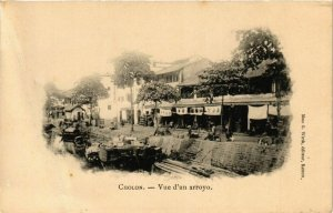 CPA AK Cholon Vue d'un arroyo VIETNAM-INDOCHINA (840733)