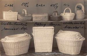 Wicker Baskets Real Photo Antique Postcard J79701
