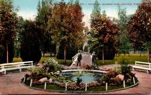 Washington Seattle Madison Park Fountain
