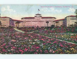Divided-Back HUNTINGTON HOTEL Los Angeles - Pasadena California CA u9982