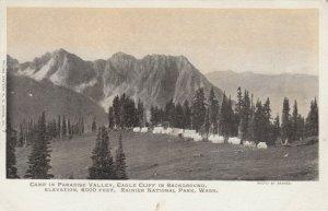 RAINIER NATIONAL PARK, Washington, 00-10s; Camp in Paradise Valley, Eagle Cliff