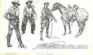 Initiation of a Tenderfoot Western Cowboy, Cowgirl Postcard Postcards  Initia...