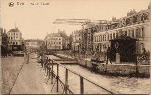 Douai France Vue sur le Canal Unused Postcard F70