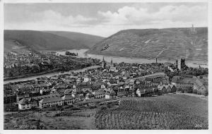 Bingen Germany~Birdseye Panorama~1930s Real Photo Postcard~RPPC
