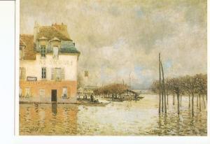 Postal 021090 : Linondation ·Port-Marly, Alfred Sisley