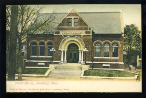 Amesbury, Massachusetts/MA/Mass Postcard, Public Library