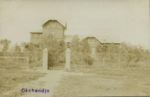 German SWA, Namibia, OKAHANDJA, Unknown House behind Fence (1910s) RPPC