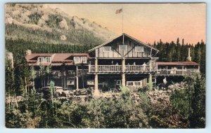 ESTES PARK, CO Colorado    BALDPATE INN  c1920s  Handcolored  Postcard