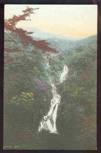 pc773 postcard Japan Waterfall RPPC Hand colored UDB Kirifupi Nikko
