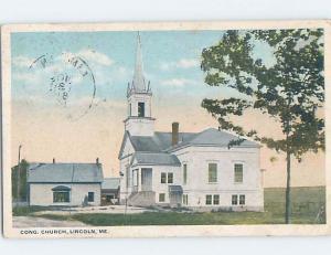 W-Border CHURCH SCENE Lincoln - Near Millinocket & Old Town Maine ME A9572
