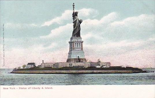 New York City Statue Of Liberty & Island