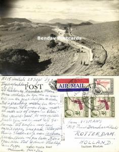 southern rhodesia, UMTALI, Vumba Road (1959) RPPC, Stamps