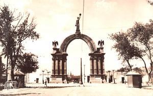 Mexico Old Vintage Antique Post Card Arco Independencia Monterrey Real Photo,...