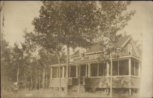 Hampstead NH? Bright Star Lodge c1910 Real Photo Postcard