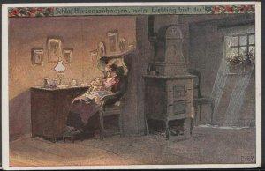 Artist Postcard - Schlaf Herzenssuhnchen, Mein, Liebling Bist Du  RS8744
