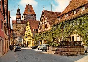 Rothenburg Germany Rodergasse mit Markusturm Rothenburg Rodergasse mit Markus...
