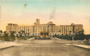 Hollywood By The Sea Florida~Hollywood Beach Hotel~Boulevard Side~1931 Postcard