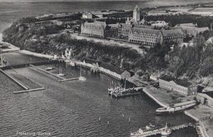 Flensburg Harbour Vintage Aerial Real Photo German Germany Postcard