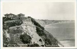 CA - Santa Monica Bay. Bernheimer Residence, Pacific Palisades    *RPPC