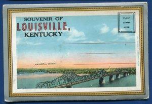 Louisville Kentucky ky Churchill Downs Ohio River Falls postcard folder #3