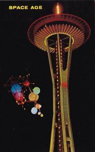 Washington Seattle World's Fair Satellite And Space Needle