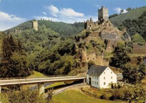 Manderscheid Eifel Ober u. Niederburg Castle Ruins Bridge Chateau