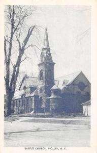 Holley New York Baptist Church Exterior View Antique Postcard J77272