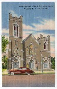 Westfield, N.Y., First Methodist Church, East Main Street, Founded 1821