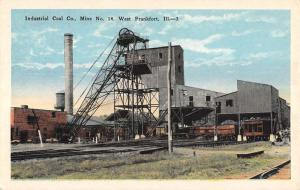 West Frankfort Illinois Industrial Coal Mine Antique Postcard K102894