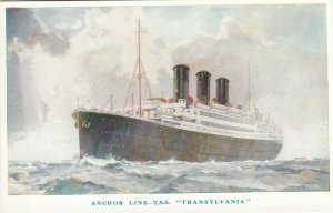 Ocean Liner , T.S.S. TRANSYLVANIA , Anchor Line , 1910s