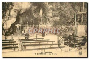 Old Postcard The Pyrenees Lourdes Grotto