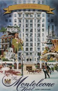 NEW ORLEANS, Louisiana, 40-60s; The Monteleone Hotel