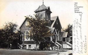 C19/ Dayton Washington WA Postcard c1910 First Congregational Church
