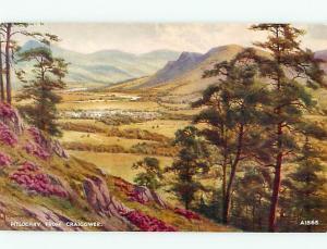 Loch Tummel Queens View A 1865 Aeria Stream River Dundee London  Postcard # 6755
