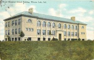 Winona Lake Indiana~Mount Memorial School Building~1910 Postcard