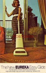 postcard THE NEW EUREKA EASY GLIDE - the One Upright Cleaner for All Surfaces