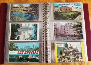 180 Vintage Post Cards in Post Card Album #1