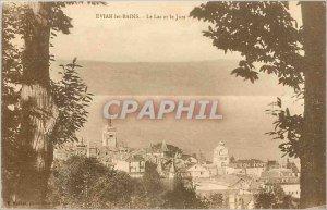 Postcard Old EVIAN LES BAINS Lake and Jora