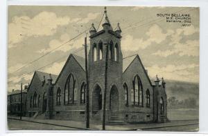 South Bellaire M E Church Bellaire Ohio 1908 postcard