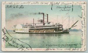 Mississippi~River Steam Boat On The Water~Vintage Postcard