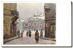 Old Postcard Illustrator Warszawa