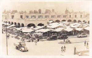 Mexico Xochimilco Mercado Street Scene Real Photo