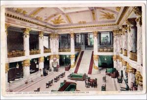 Lobby & Stairway, Jefferson Hotel, Richmond VA