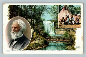 Minnehaha Falls MN-Minnesota, Named Her From The River, Vintage c1910 Postcard