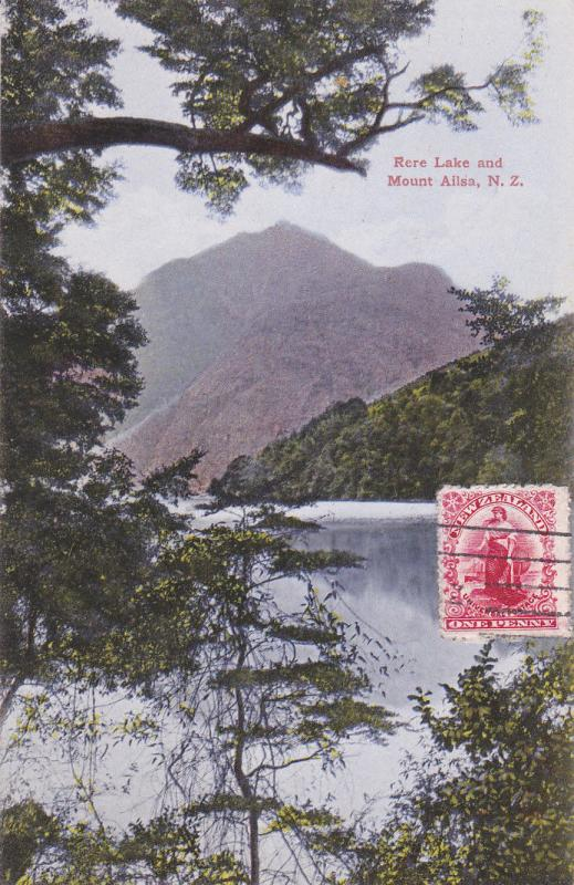 NEW ZEALAND, PU-1903; Rere Lake And Mount Ailsa