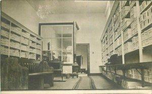 C-1910 Shoe store Interior Fitting boots Satin California RPPC Postcard 6939