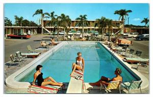 1950s/60s Plaza Inn Motel, St. Petersburg, FL Postcard