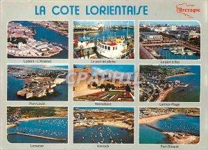 Modern Postcard La Cote Lorient attractions