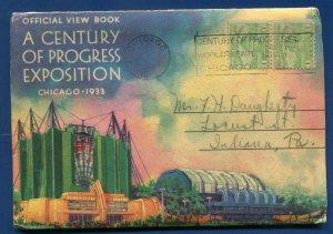 Century Progress Chicago Worlds Fair ILLinois il 1933 cancel postcard folder